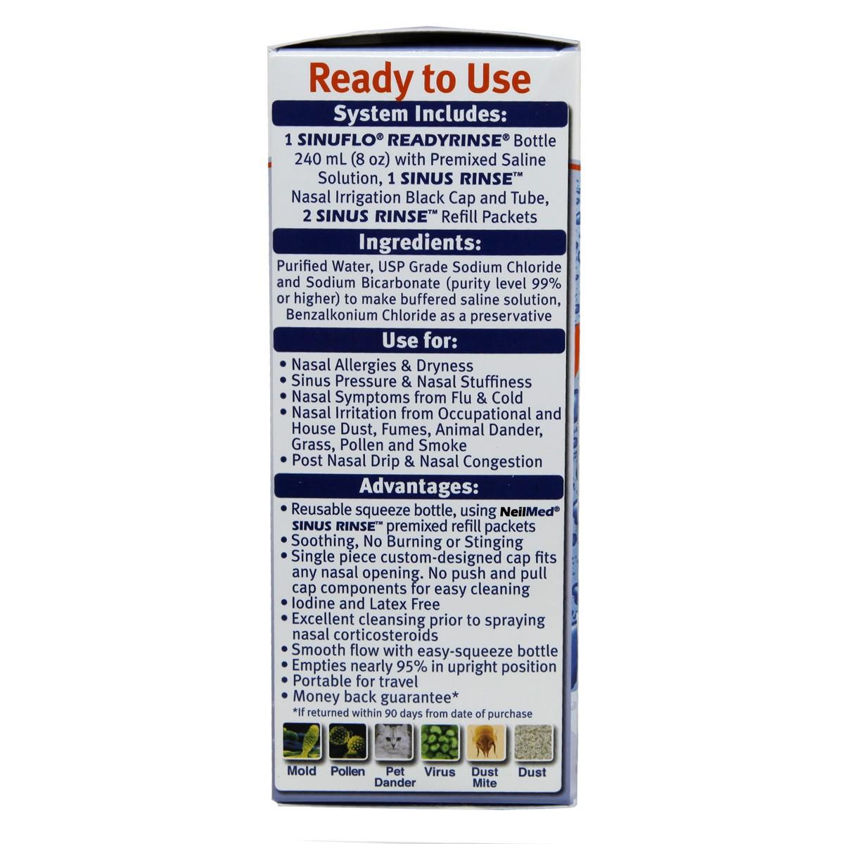 NeilMed SinuFlo Ready Rinse Premixed Nasal Wash