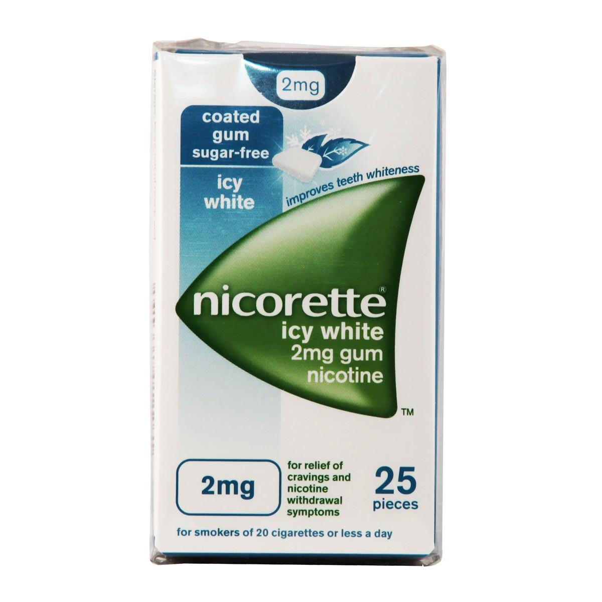 Nicorette Icy White 2mg Gum