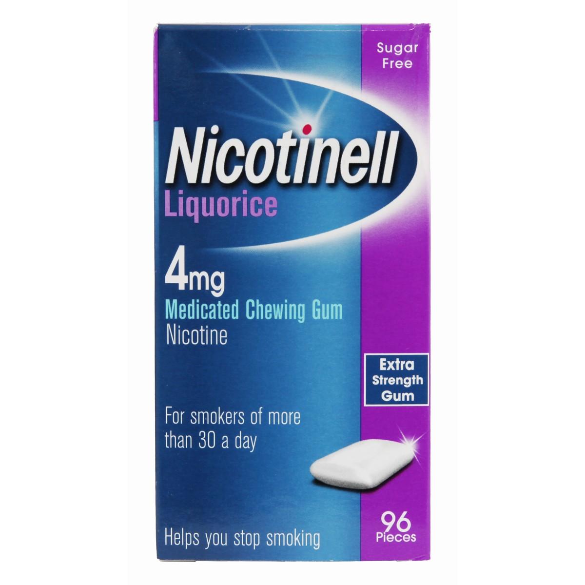 Nicotinell Liquorice Chewing Gum 4mg