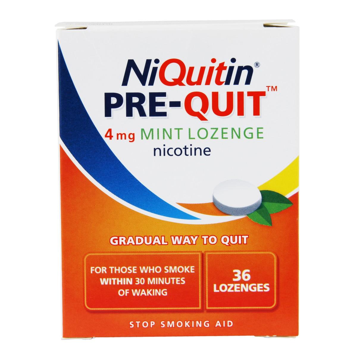 Niquitin Pre-Quit Mint Lozenges 4mg