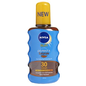 Nivea Sun Protect & Bronze Tan Activating Protecting Oil SPF30 High 200ml