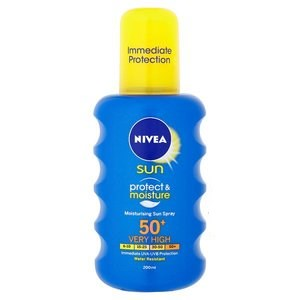 Nivea Sun Protect & Moisture Moisturising Sun Spray SPF50+ Very High