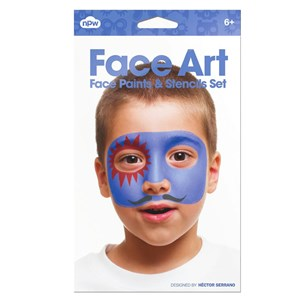 NPW Face Art Face Paint & Stencils Set