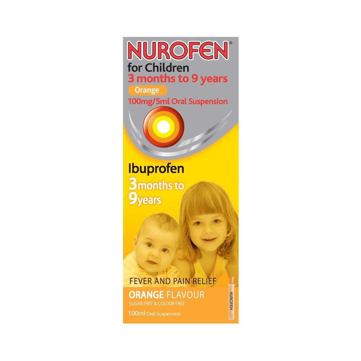 Nurofen For Children Orange Oral Suspension Liquid