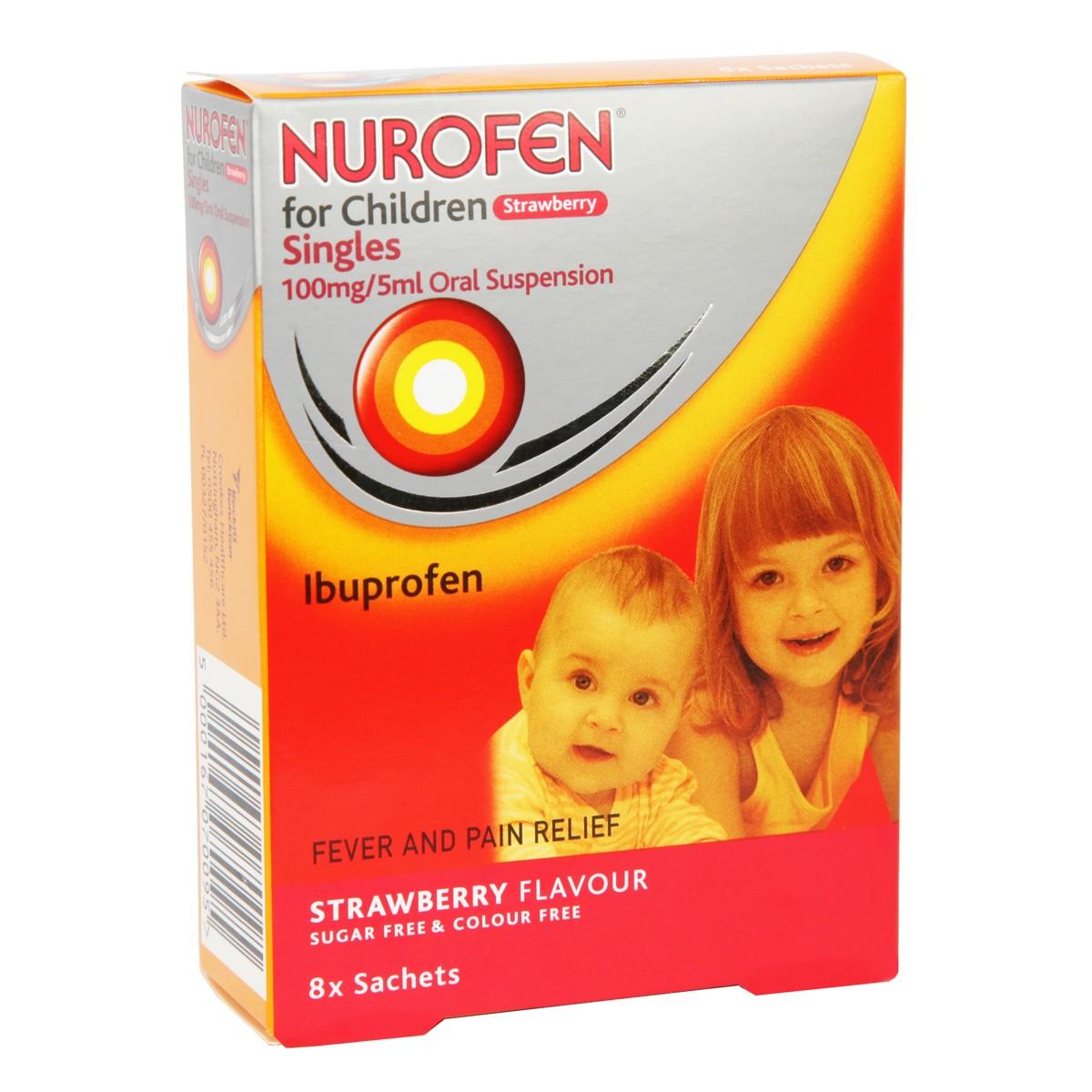 Nurofen For Children Strawberry Oral Suspension Sachets