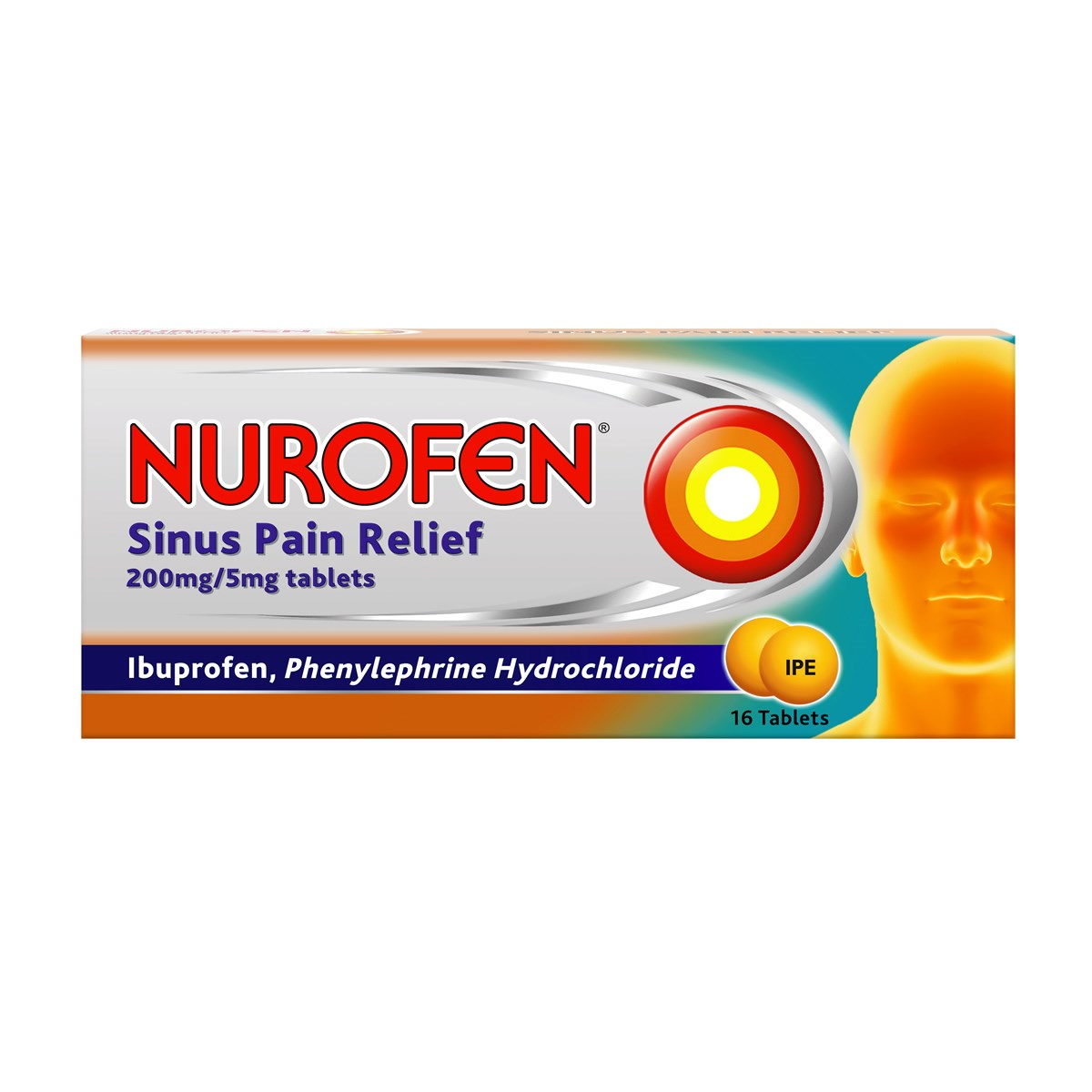 Nurofen Sinus Pain Relief 200mg/5mg Tablets
