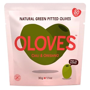 Oloves Chilli & Oregano Natural Green Pitted Olives