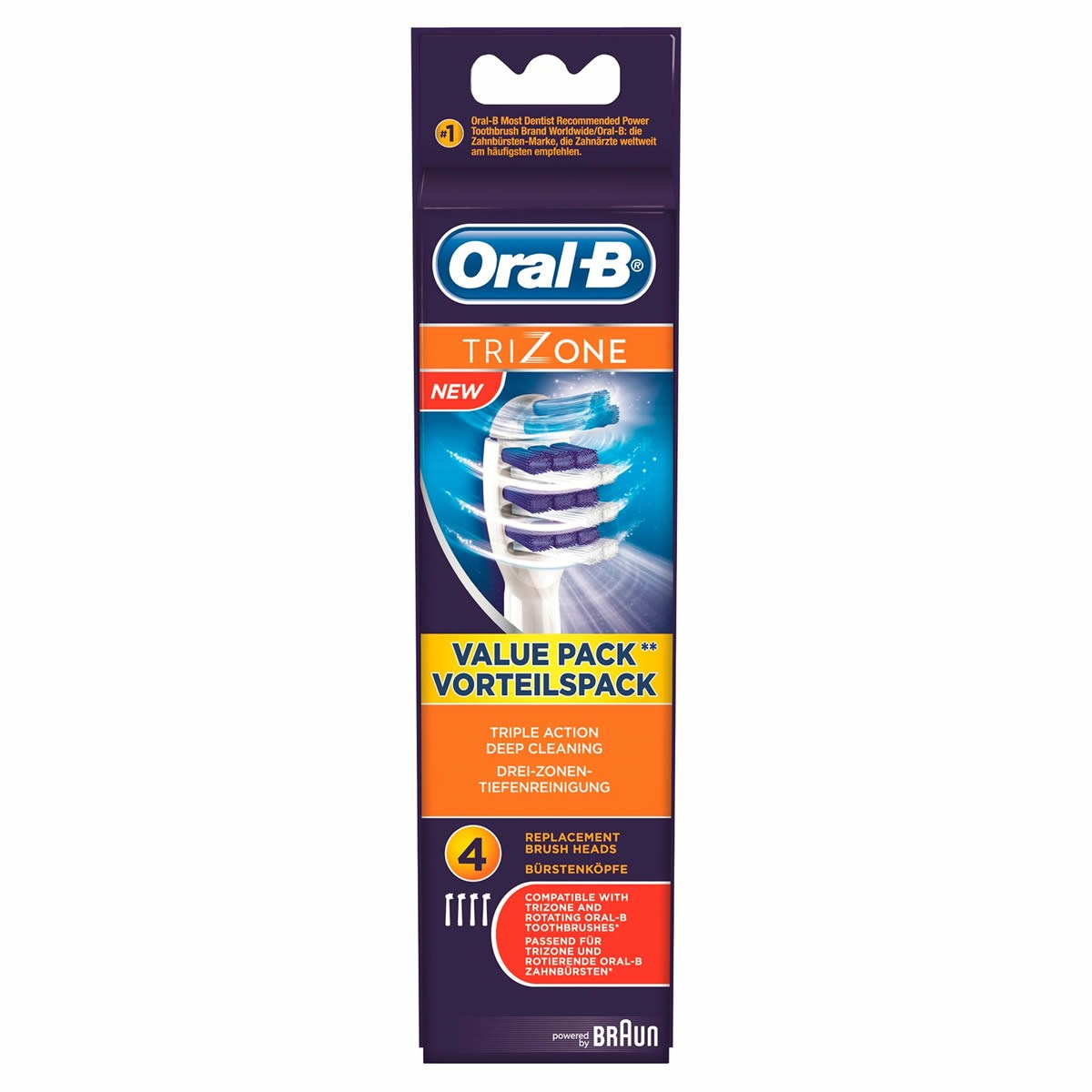 Oral-B TriZone Replacement Brush Heads