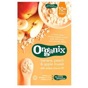 Organix Banana, Peach & Apple Muesli - Stage 3 (10+ months)