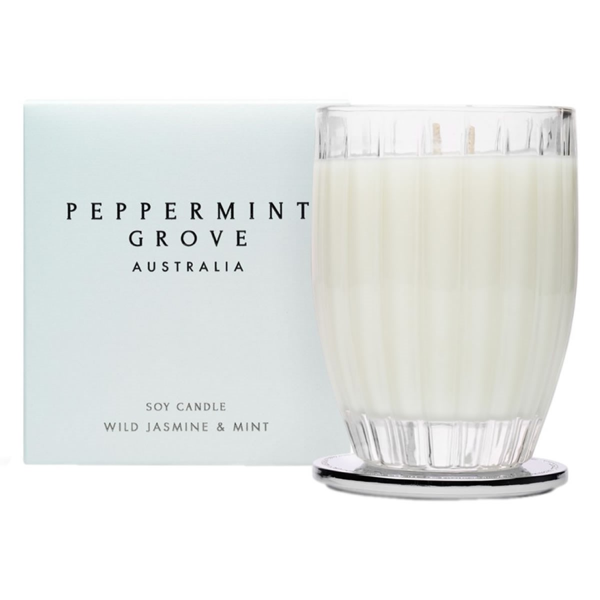 Peppermint Grove Australia Large Soy Candle - Wild Jasmine & Mint