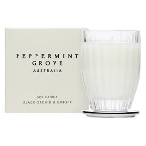 Peppermint Grove Australia Small Soy Candle - Black Orchid & Ginger