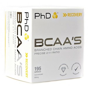 PhD Nutrition BCAA's 500mg Capsules
