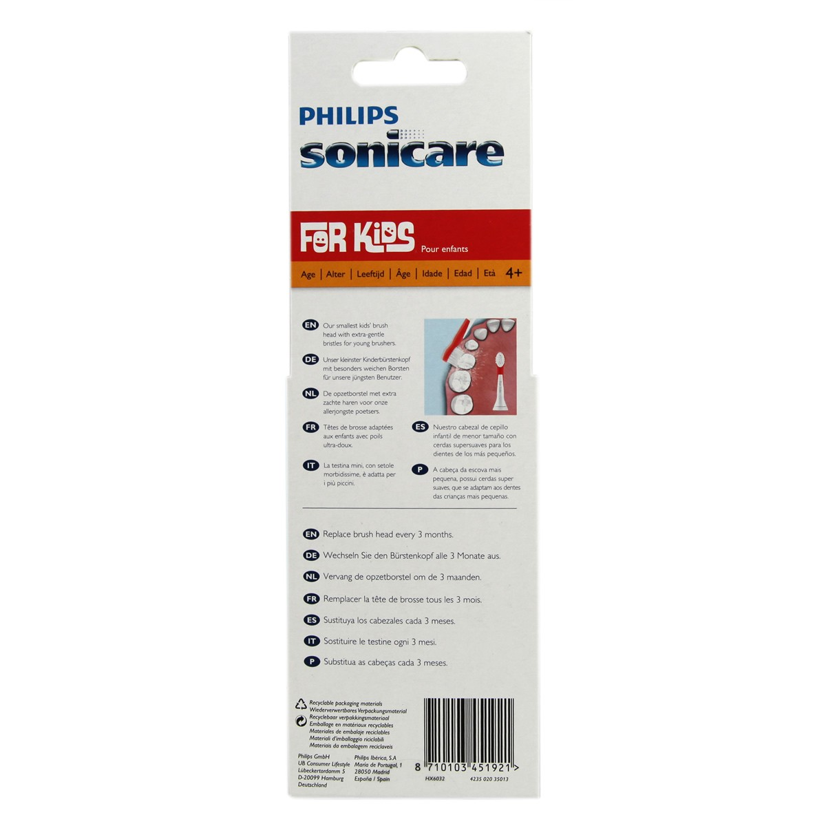 Philips Sonicare Kids Brush Head Small HX6032 (4 years +)