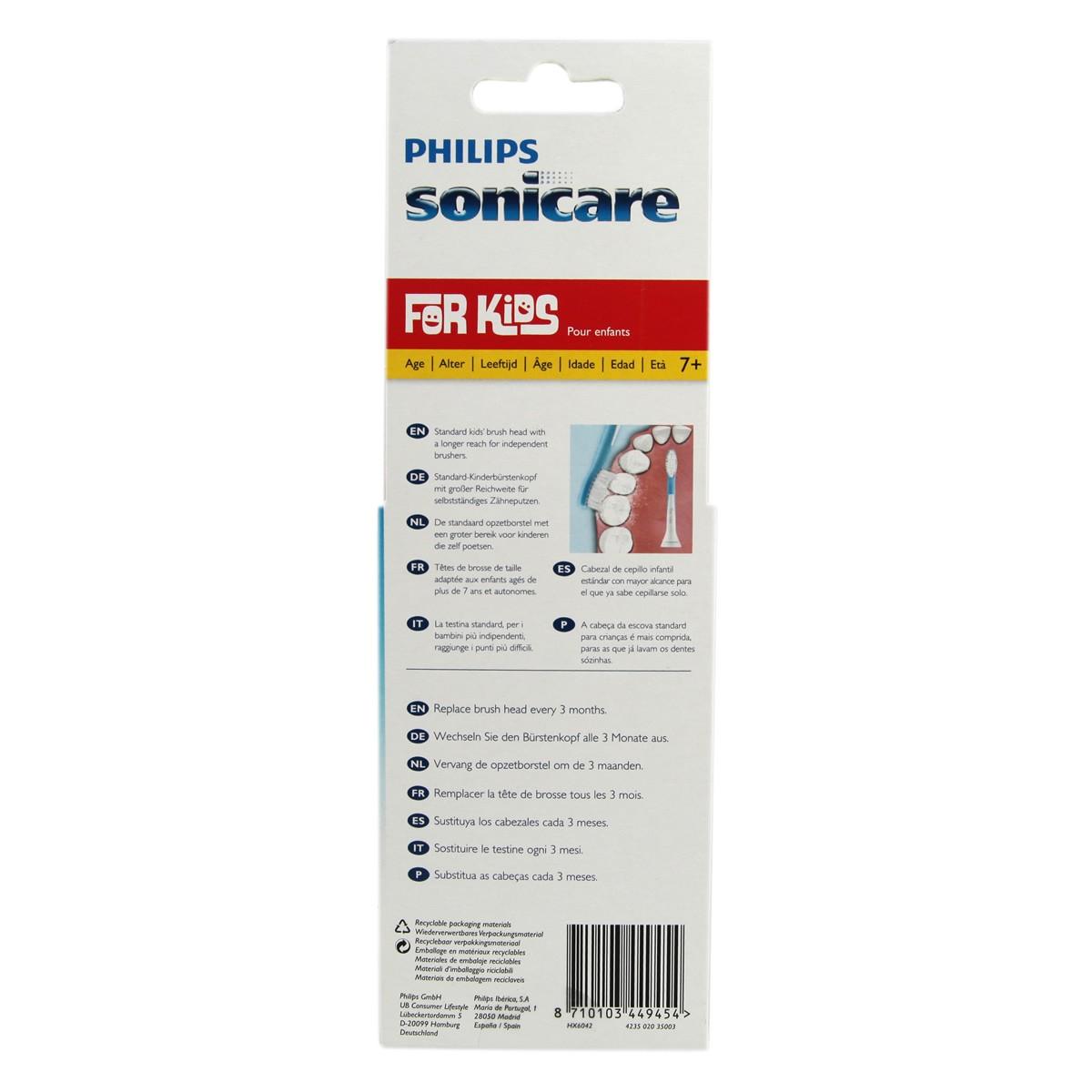Philips Sonicare Kids Brush Heads Tall HX6042 (7 years+)