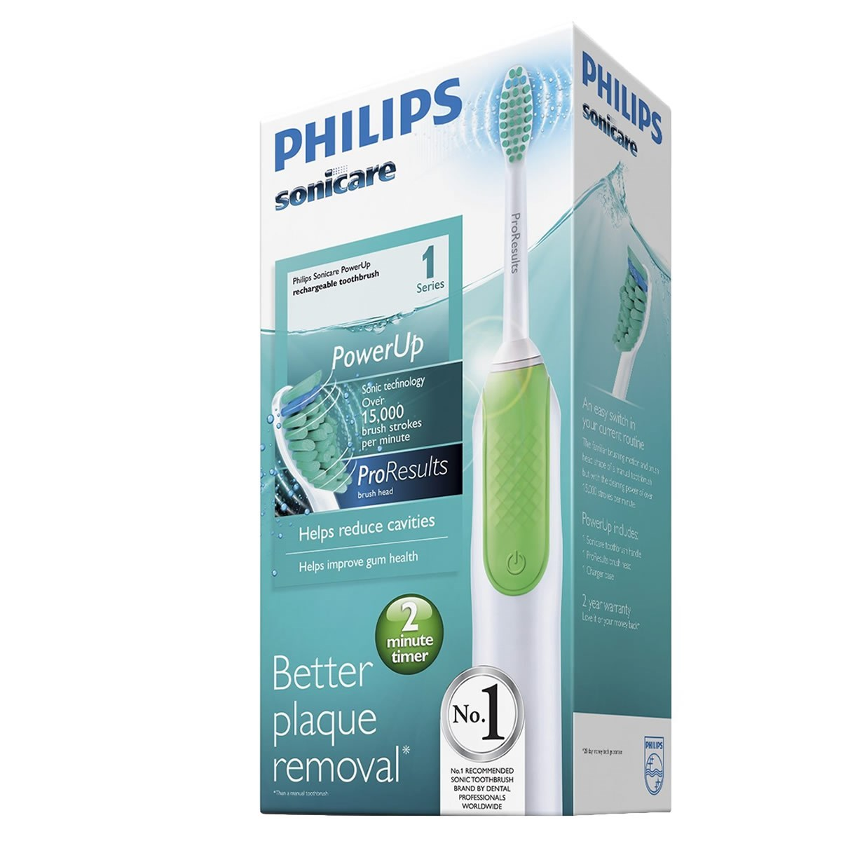 Philips Sonicare Power Up Rechargeable Toothbrush - ProResults Brush Heads