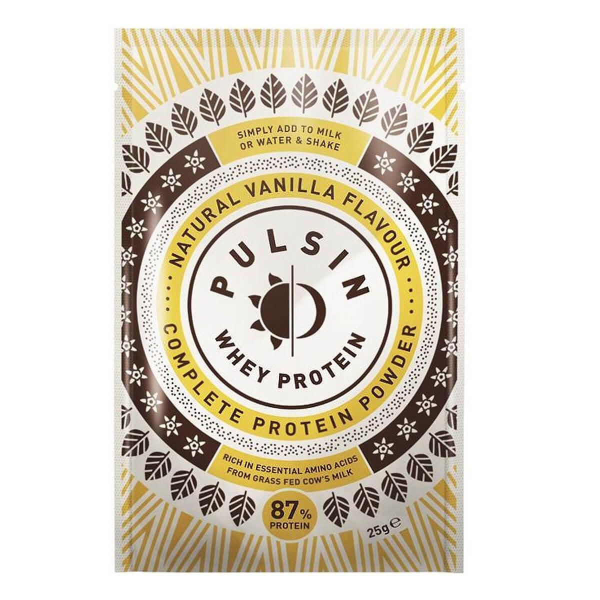 Pulsin Vanilla Whey Protein Complete Protein Powder
