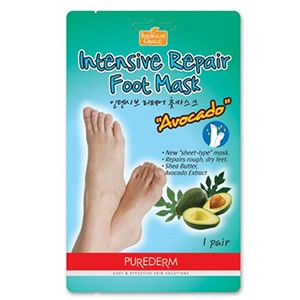 PureDerm Intensive Repair Foot Mask - Avocado
