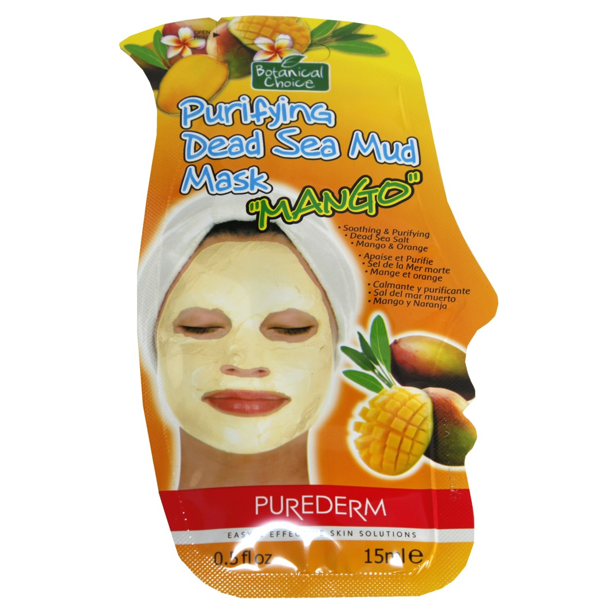 PureDerm Purifying Dead Sea Mud Mask with Mango