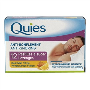 Quies Anti-Snoring Lozenges - Honey Lemon Flavour
