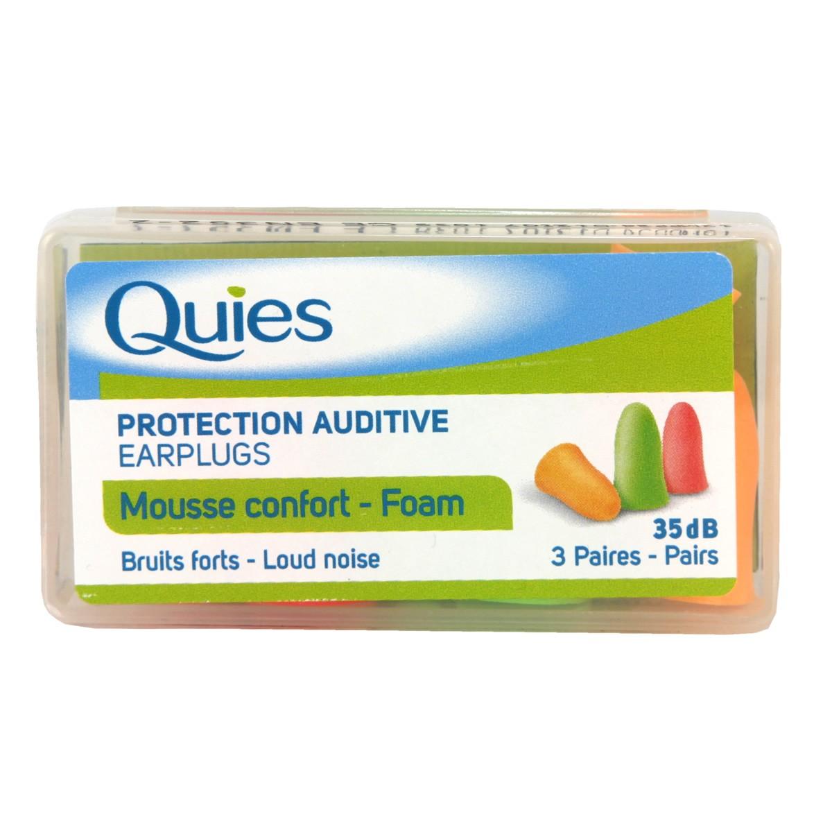 Quies Protective Auditive Earplugs Mousse Comfort - Foam
