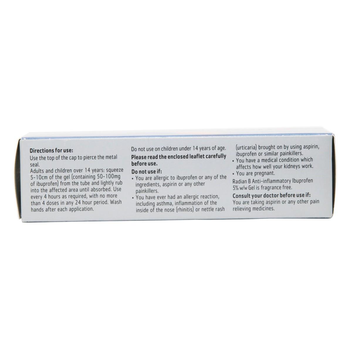 Radian B Ibuprofen Gel