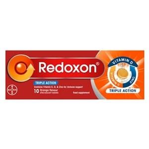 Redoxon Triple Action Vitamin C,D, & Zinc - Orange Effervescent Tablets