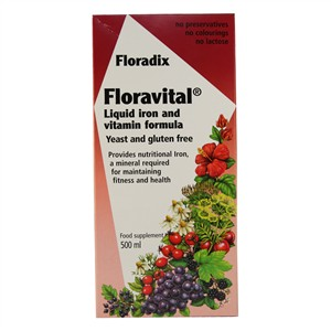 Salus Floradix Floravital Liquid Iron and Vitamin Formula