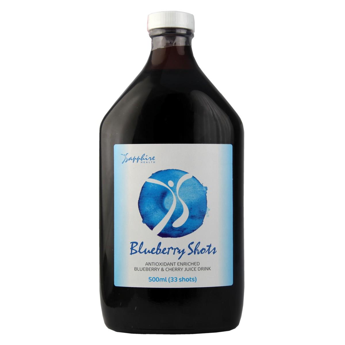 Sapphire Health Blueberry Shots