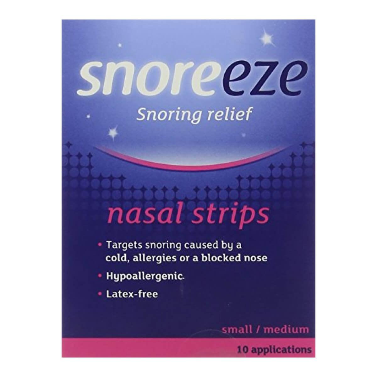 Snoreeze Snoring Relief Nasal Strips - Small/Medium