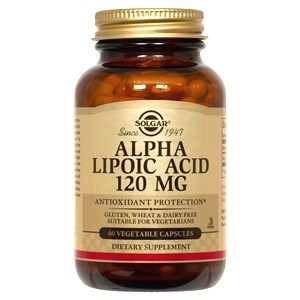Solgar Alpha Lipoic Acid 120mg Vegetable Capsules