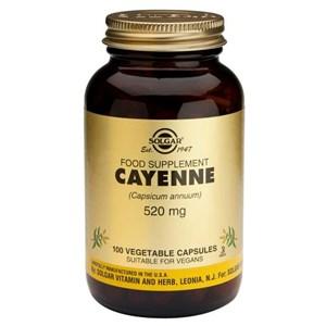Solgar Cayenne 520mg Vegetable Capsules