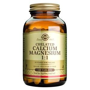 Solgar Chelated Calcium Magnesium 1:1 Tablets