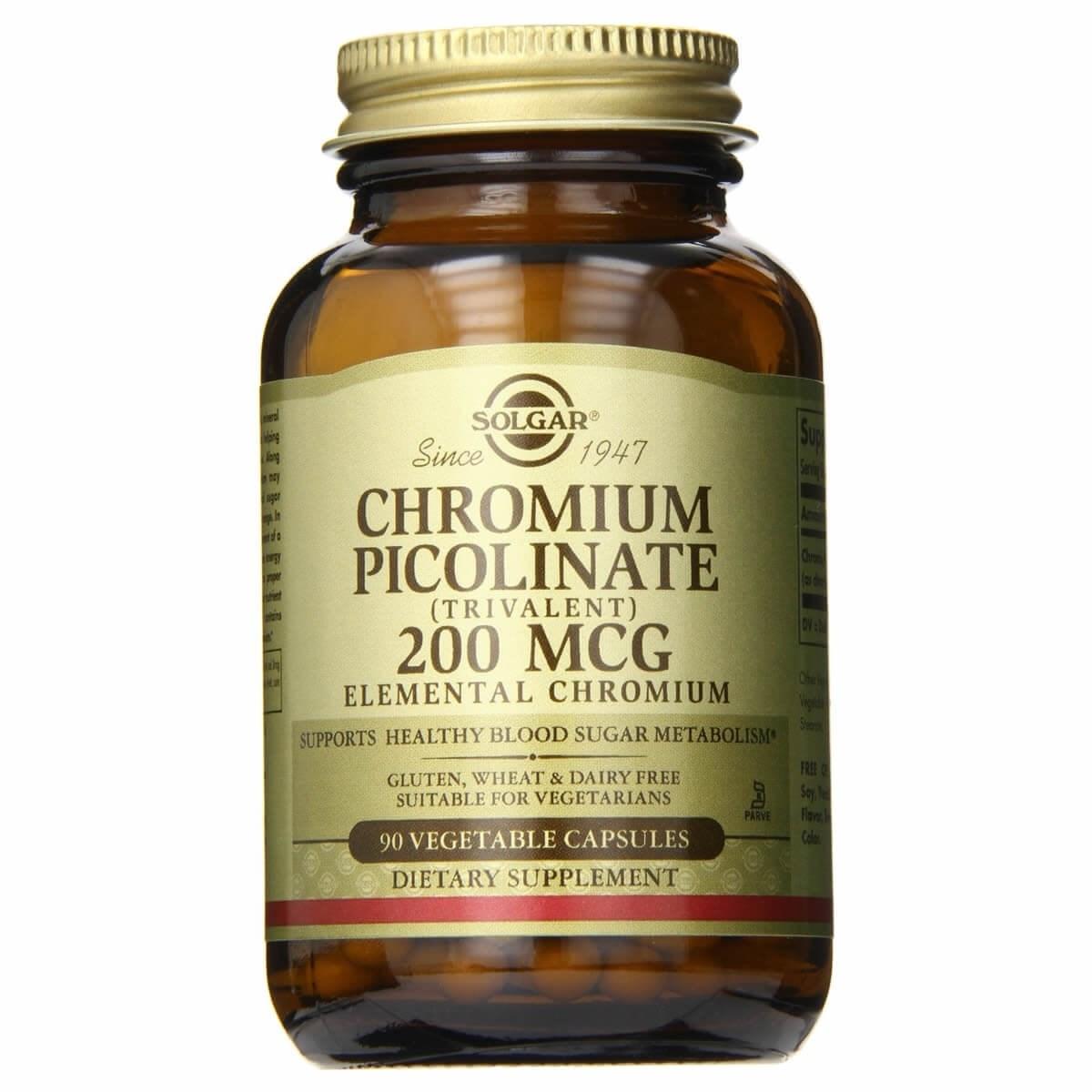 Solgar Chromium Picolinate 200 µg Vegetable Capsules