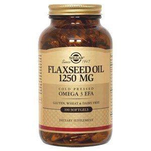 Solgar Cold Pressed Flaxseed Oil 1250 mg Softgels