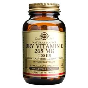 Solgar Dry Vitamin E 268mg (400iu) Vegetable Capsules