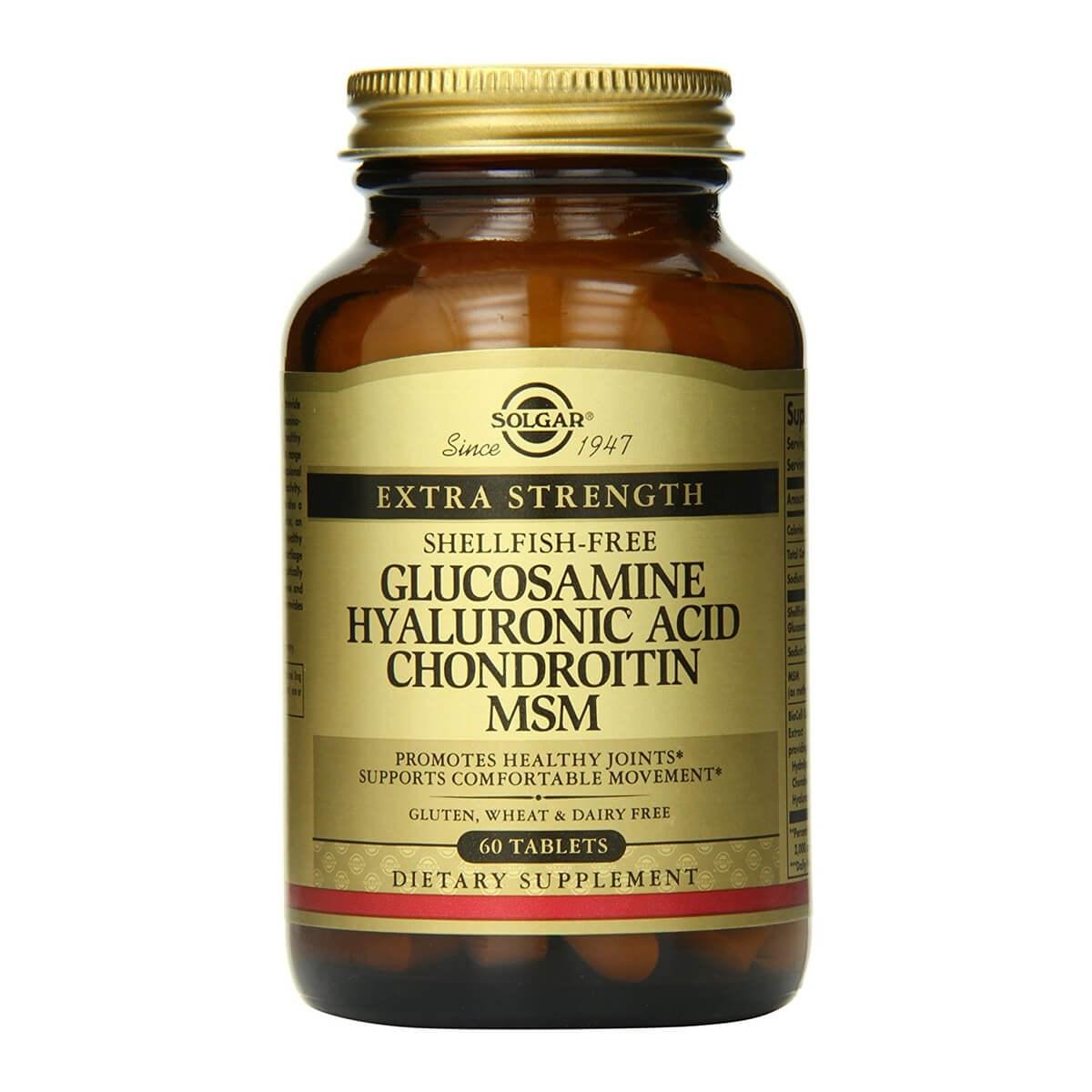 Solgar Extra Strength Glucosamine Chondroitin MSM Tablets - (Shellfish-Free)