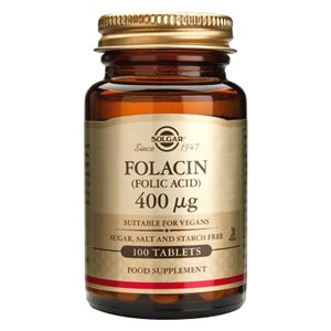 Solgar Folacin (Folic Acid) 400 µg Tablets