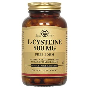 Solgar L-Cysteine 500 mg Vegetable Capsules