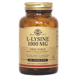 Solgar L-Lysine 1000 mg Tablets