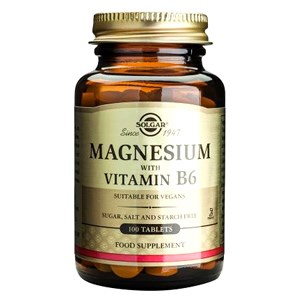 Solgar Magnesium with Vitamin B-6 Tablets