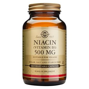 Solgar Niacin (Vitamin B3) 500 mg Vegetable Capsules