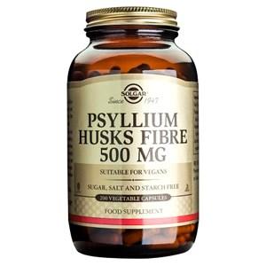 Solgar Psyllium Husks Fibre 500 mg Vegetable Capsules