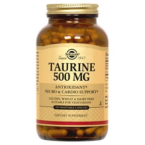 Solgar Taurine 500 mg Vegetable Capsules