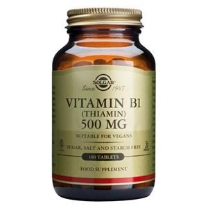 Solgar Vitamin B1 500 mg (Thiamin) Tablets