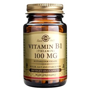 Solgar Vitamin B1 (Thiamin) 100 mg Vegetable Capsules