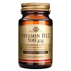 Solgar Vitamin B12 500 mcg Vegetable Capsules