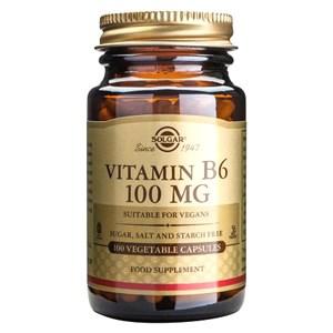 Solgar Vitamin B6 100 mg Vegetable Capsules