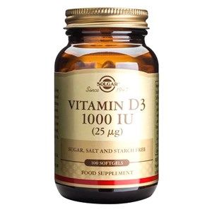 Solgar Vitamin D 1000 IU (25µg) Softgels