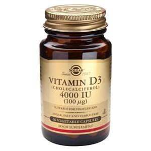 Solgar Vitamin D3 (Cholecalciferol) 4000IU (100ug) Vegetable Capsules