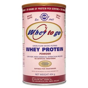 Solgar Whey to Go Protein Powder Natural Strawberry Flavour